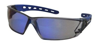 Mack Chronos Blue Mirror Lens Safety Sunglasses Anti Scratch Shatterproof