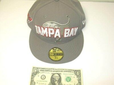 ae27cfbc7 NEW ERA 59FIFTY Hat Tampa Bay Buccaneers Football Pewter Fitted Cap 7 3 8 -   24.99
