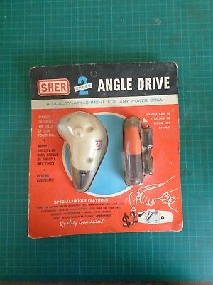 Vintage SHER  right angle drive for power drill, original packaging