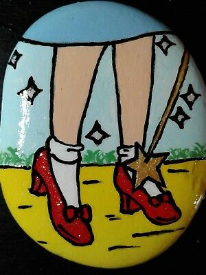 Dorothy Wizard Of Oz Slipper Original Hand Painted Rock Stone Art Suzanne Foster