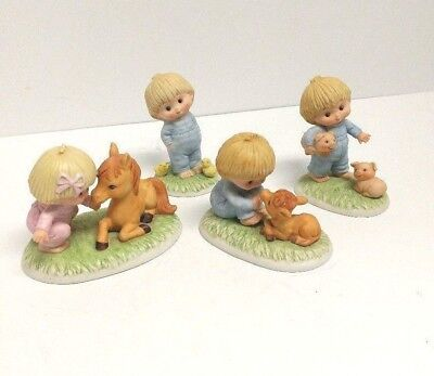 R. J. And Billy D Enesco Figurines - set of 4