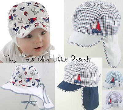 Baby Boy Infant Toddler Cotton Spring Summer Sun Autumn Pirate Hat 0 - 4 years