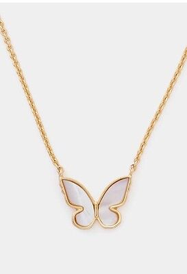 NWT Kate Spade Butterfly Mother of Pearl Mini Pendant Necklace