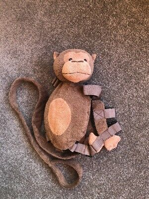 Toddler Baby 2 In 1 GOLDBUG Cute Monkey Harness Backpack Leash Child Safety