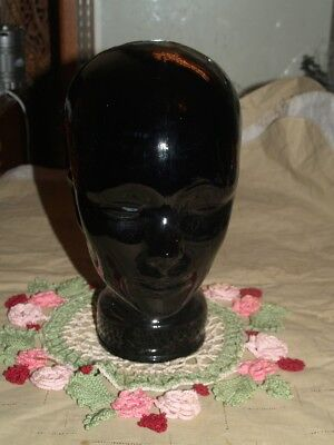 Black Glass Mannequin Head
