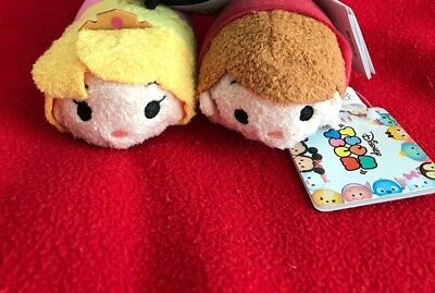 Japan Disney Store - Tsum - Sleeping Beauty Aurora (3rd Anniversary) & Prince
