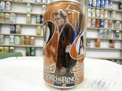 2001 The Lord Of The Rings A & W Root Beer Soda Can . The Two Towers . Legolas