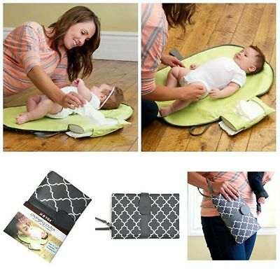 JJOVCE Diaper Changing Clutch wipeable changing pad portable changing station