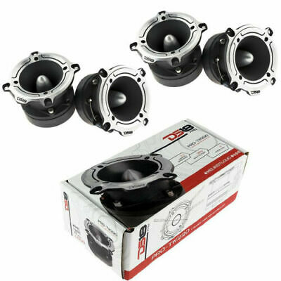 "Super Loud Tweeter Silver High Compression 1"" Bullet 700W (4) DS18 PRO-TW210"