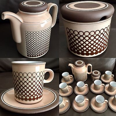 """Fantastic 24 Piece Hornsea """"Coral"""" Ironstone Coffee Set In Perfect Condition"""