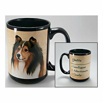Sheltie Faithful Friends Dog Breed 15oz Coffee Mug Cup