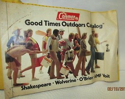 Vintage Coleman Good Times Outdoors Catalog 1981 Advertisements Coupons