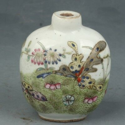 Early 20th century Chinese Exquisite Handmade Porcelain snuff bottle