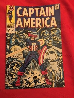 Captain America #107, first Dr. Faustus, Jack Kirby, Stan Lee