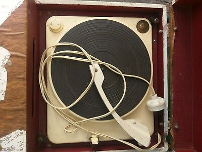 """Portable Record Player HF100 BSR """"British Made High Fidelity Unit"""" Circa 1940's?"""