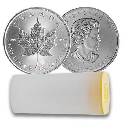 2016 1oz Canadian Maple Leaf Silver $5 Minted Coin 99.99% Pure