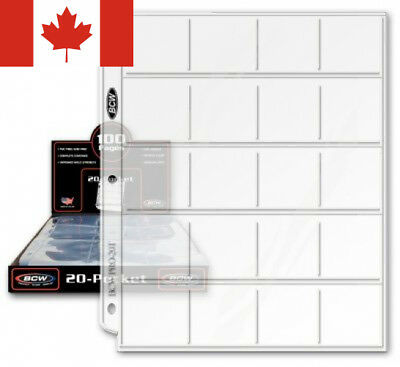 20 (Twenty) - BCW Pro 20-Pocket Coin Storage Page Collecting Supplies