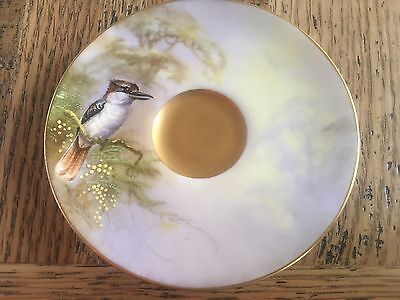 Royal Worcester Hand Painted Demitasse Saucer Signed W Powell dated 1912