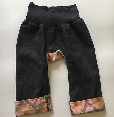 Oishi-m Girls Pants Sz 12 - 24 Months Denim EUC