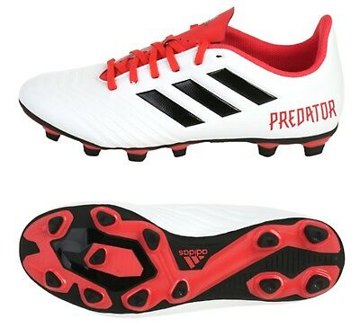 d48208723ccd Adidas Men Predator 18.4 FxG Cleats Soccer White Red Football Shoes Spike  CM7669