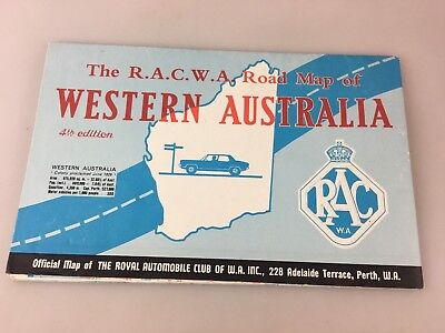 R.a.c.w.a. Road Map Of Western Australia In Miles - 4Th Edition