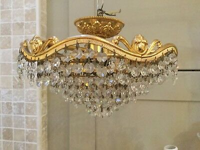 Crystal Chandelier 1920 Rewired And Complete