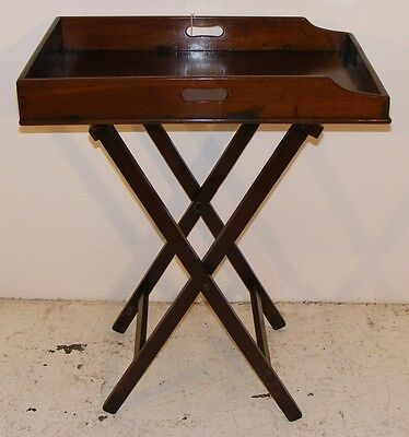 Good Quality Antique 19Th Century Mahogany Butlers Tray