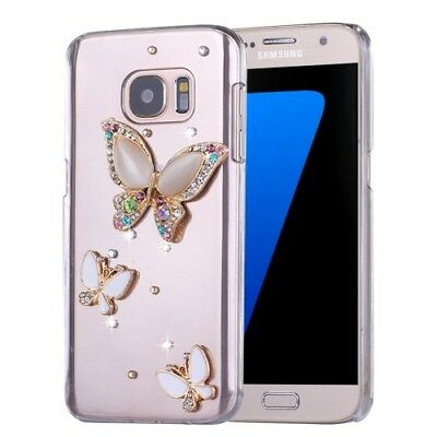 étui de protection Diamant papillon pierres de strass STRASS TPU Galaxy S7 G930