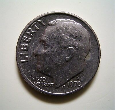 USA 1970D Dime 10c Coin,...Very Good Circulated Condition ...                *TC