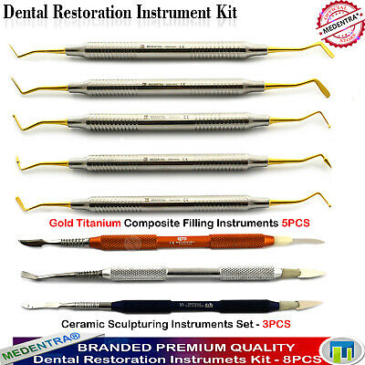 8Pcs Dental Composite Greenstein Wax-Ceramic Sculpturing-Restorative Carvers Lab