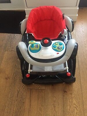 My Child Coupe Racing Car Baby Walker & Rocker with Lights and Sounds