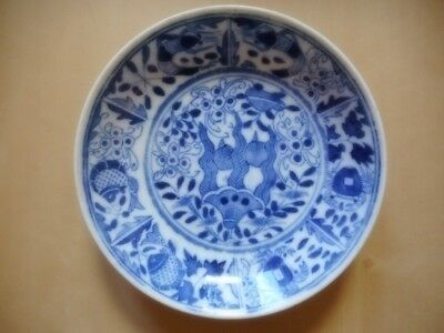 Assiette porcelaine bleu blanche Chine Kangxi china chinese porcelain plate