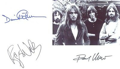 autographes Roger WATERS, David GILMOUR, Richard WRIGHT (PINK FLOYD)