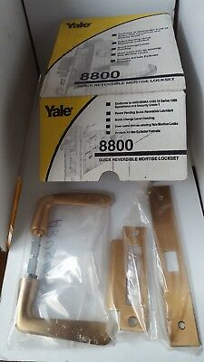 YALE 8800 Series Mortice Locksets Quick Reversible Left/ Right Hand Satin Bronze