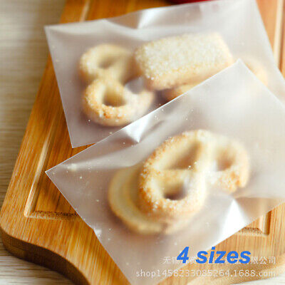 plain Matte Lollie Bags frosted self-adhesive cello lolly candy treat cellophane