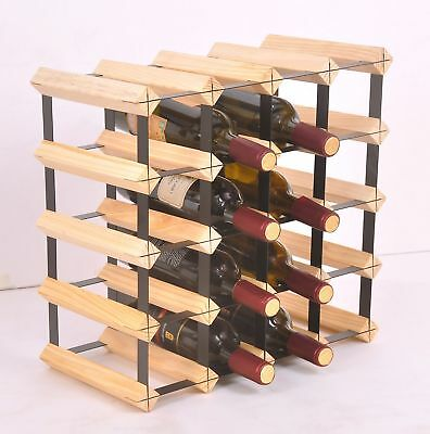 20 Bottle Timber Wine Rack Storage System stylish design Complete Wooden pine AU
