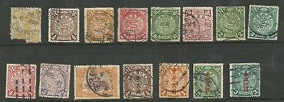 Selection of 15 early Chinese stamps