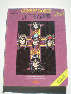 GUNS N' ROSES Appetite For Destruction GUITAR/VOCAL TABLATURE Book 1988 GNR