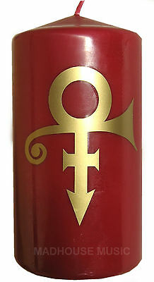 "PRINCE CANDLE w/ symbol NPG STORE Red sl. scented 6"" rare"