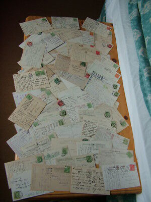 Vintage Glasgow Postcards X 76, 50 posted(40 pre WW1 with 27 posted 1903-08)
