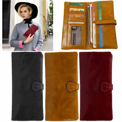 Women Large Capacity Long Style Wallet PU Leather Money Credit Card Wallet Lot O