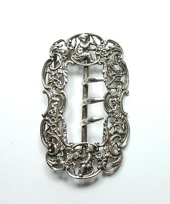 Antique Late Victorian 1900 925 Sterling Silver William Comyns Belt Buckle 28g