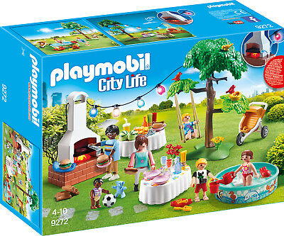 PLAYMOBIL® City Life 9272 Einweihungsparty Grillparty Gartenparty Garten Party