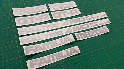 Mazda Familia 323 GT-R dohc Full Time 4WD with Viscous LSD  Decals Stickers
