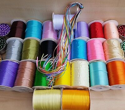 20×100 Yards 3mm Width Mix Colour Satin Ribbon