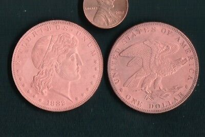 United States 1882 $1 Coin Struck In Copper!Fantasy Issue