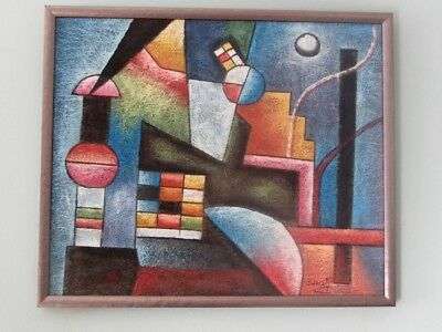 Original contemporary painting - abstract - geometric