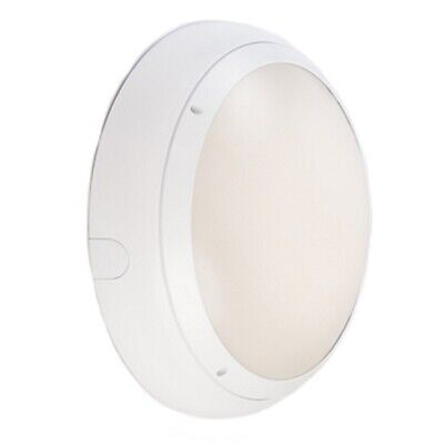 Ansell Vision 3 20w LED  IP65 White Bulkhead With MW Sensor