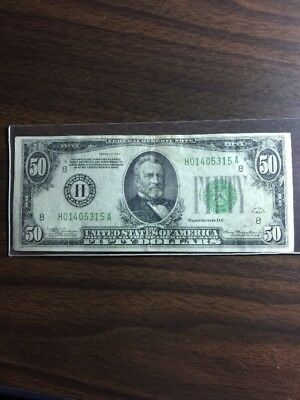 1934 $50 Federal Reserve Note - H St. Louis H01405315A