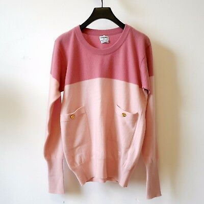 Chanel 100% Cashmere Pink Sweater Size S/m